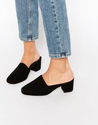 Asos Speed Up Mules Black