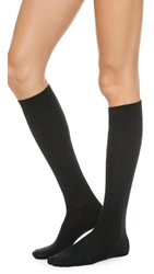 Falke Soft Merino Knee High Socks Black