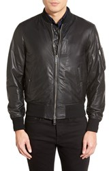 Men's Burberry Brit 'Ralleigh' Black Leather Bomber Jacket