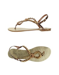 Francesco Milano Thong Sandals Bronze