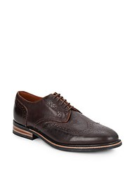 Walk Over Eliot Leather Wingtip Oxfords Chocolate