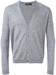 Pringle Of Scotland V Neck Cardigan Grey