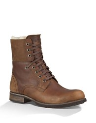 Ugg Larus Sheepskin Lace Up Boots Brown