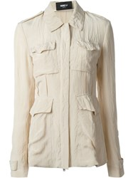 Yang Li Lightweight Military Jacket Nude And Neutrals