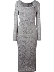 Twin Set Lace Dress Grey