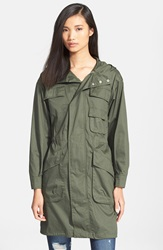 Atm Anthony Thomas Melillo Oversize Hooded Cotton Poplin Parka Moss