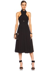 Camilla And Marc Golden Myna Poly Dress In Black