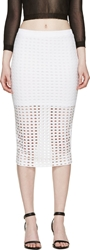 Alexander Wang White Circular Hole Skirt