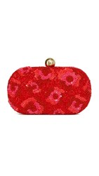 Santi Sequin Embellished Clutch Red