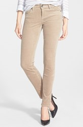 Petite Women's Kut From The Kloth 'Diana' Stretch Corduroy Skinny Pants Khaki