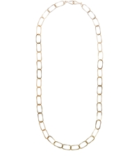 Melissa Joy Manning Gold Oval Link Dual Hook Necklace