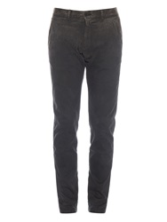 Tomas Maier Straight Leg Stretch Cotton Trousers