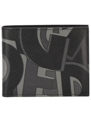 Salvatore Ferragamo Logo Print Square Wallet Black