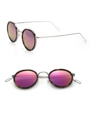 Kyme Matti 46Mm Oval Sunglasses Acetate Pink