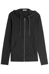 James Perse Cotton Hoodie Black