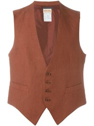 Romeo Gigli Vintage Classic Waistcoat Yellow And Orange