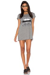 Lauren Moshi Lana Mini T Shirt Dress Gray