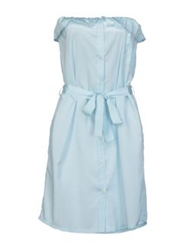 Beayukmui Short Dresses Sky Blue