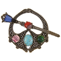 Eclectica Vintage 1960S Celtic Miracle Silver Plated Brooch Pewter