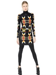 Ktz Patches Faux Nappa Leather Dress