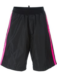 Dsquared2 Striped Track Shorts Black