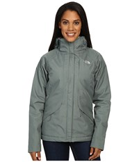 The North Face Inlux Insulated Jacket Balsam Green Women's Jacket Gray