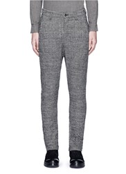 Attachment Slim Fit Glen Plaid Pants Grey