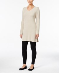Styleandco. Style Co. V Neck Tunic Sweater Only At Macy's Hammock Heather