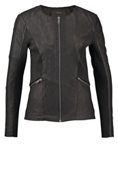 Y.A.S Yas Yasliga Leather Jacket Black