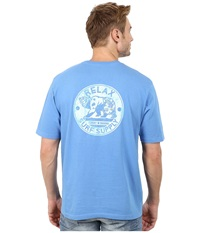 Tommy Bahama Relax Surf Supply Tee Buzios Men's T Shirt Blue