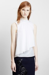 Christopher Kane Flounce Cotton Shirt White