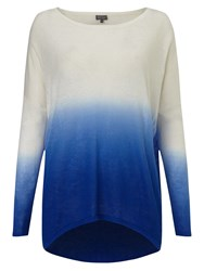 Phase Eight Dip Dye Elen Ellipse Jumper Blue