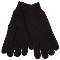 John Lewis Knitted Fleece Gloves Black
