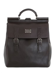 Dolce And Gabbana Leather Maxi Backpack
