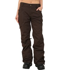 686 Authentic Patron Insulated Pants Coffee Herringbone Women's Casual Pants Brown
