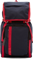 Marni Navy Canvas Backpack