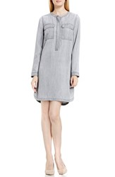 Vince Camuto Women's Two By Collarless Chambray Shirtdress