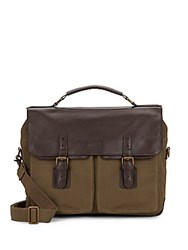 Maker And Company Canvas Twill And Leather Bag Brown Tan