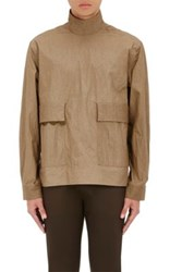 Acne Studios Men's Solar Ribbon Tech Poplin Pullover Tan