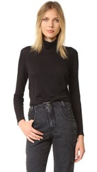 Madewell Whisper Cotton Turtleneck True Black