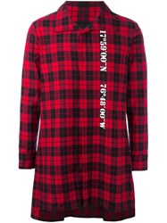 D.Gnak Checked Long Shirt Red