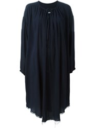 Raquel Allegra V Neck Long Sleeve Dress Blue