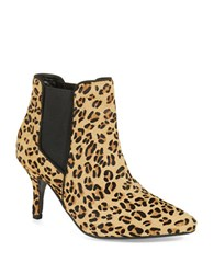 Kg By Kurt Geiger Scamp Leopard Print Calf Hair Ankle Boots Animal