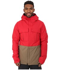 686 Authentic Moniker Insulatd Jacket Cardinal Color Block Men's Coat Red