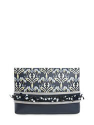Mother Of Pearl Nile Large Clutch Blue
