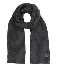 Ugg Ribbed Oversized Scarf Charcoal Grey Heather Scarves Gray