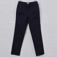 Sunspel Navy Women's Chino Trousers