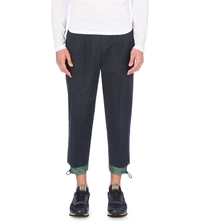 Kolor Aertex Perforated Cuffed Trousers Navy
