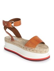 Stella Mccartney Faux Leather Espadrille Platform Sandals Canyon