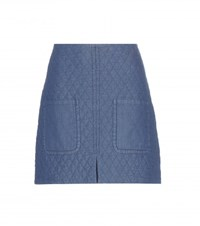 See By Chloe Quilted Cotton Miniskirt Blue